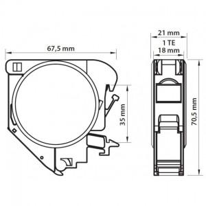Patchcord światłowodowy 50/125 duplex ST-SC 3.0m