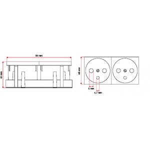 Adapter ipTIME F.O. LC dulpex SM ceramiczny