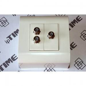 Płyta czołowa ipTIME 1U 24xSC simplex/24xLC duplex szara RAL7035
