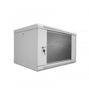 """Szafa 19"""" wisząca 3U 180mm ipTIME Standard drzwi metalowe czarna"""