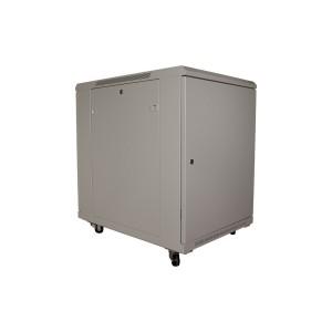 Drzwi metalowe szare do szaf 9U PRO 450, 550, 600