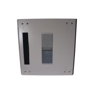 Drzwi metalowe szare do szaf 12U standard