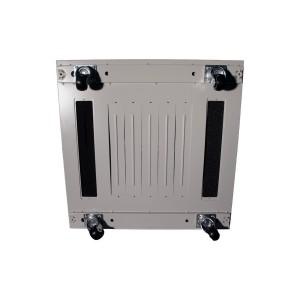 Drzwi metalowe szare do szaf 15U standard